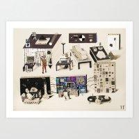 Science Laboratory On St… Art Print