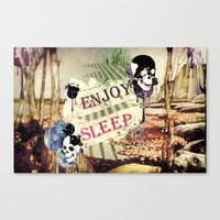 Enjoy Sleep! Canvas Print
