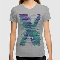 Electro Ex Womens Fitted Tee Athletic Grey SMALL
