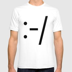 CROOKED SMILE SMALL White Mens Fitted Tee