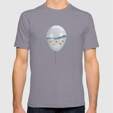 balloon fish Mens Fitted Tee Slate SMALL