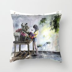 green care Throw Pillow