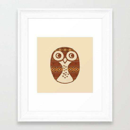 Navajo Owl  Framed Art Print