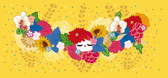 Kokeshina - Eté / Summer Art Print