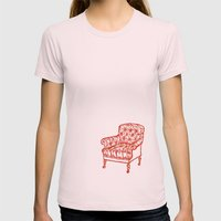 Red Chair Womens Fitted Tee Light Pink SMALL