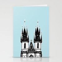 Tyn Church - Prague Stationery Cards
