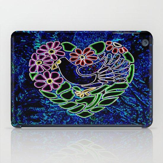 Gothic Bird in Heart iPad Case