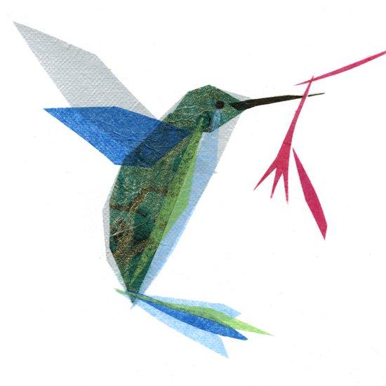 Henrietta Hummingbird Art Print