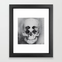 The 4i Skull Stencil Art… Framed Art Print