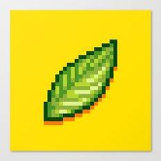 Pixel Leaf Canvas Print