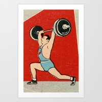 Muscle Man Art Print