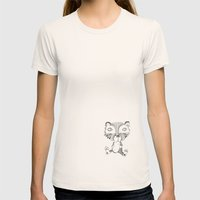 Vincent Womens Fitted Tee Natural SMALL