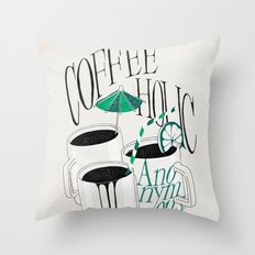 Us And Them: Coffeeholic Anonymous. Throw Pillow