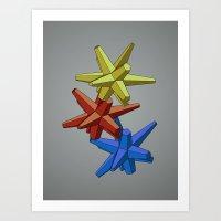 Primaryometry Art Print