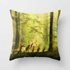 Secret Parade Throw Pillow