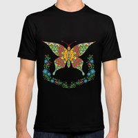 The Fancy Butterfly Mens Fitted Tee Black SMALL