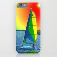iPhone & iPod Case featuring Catamaran by JT Digital Art