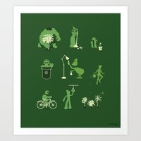 Going Green Art Print
