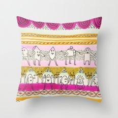 Paralels murs Throw Pillow