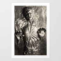 Han Solo carbonite Art Print