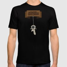 Across The Universe Black SMALL Mens Fitted Tee