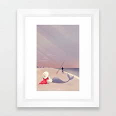 Keep Fishing Framed Art Print