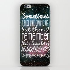 Prove Them Wrong iPhone & iPod Skin
