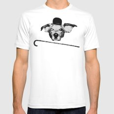 THE BUDDIE x CHARLIE CHAPLIN Mens Fitted Tee White SMALL