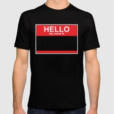 HELLO my name is... Mens Fitted Tee SMALL Black