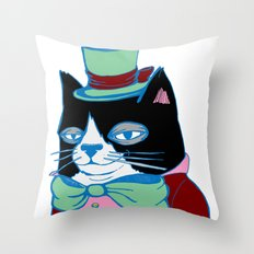 Dignified Cat Does Pastels Throw Pillow