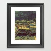Beach In Amalfi, Italy Framed Art Print