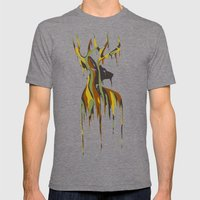 Painted Stag Mens Fitted Tee Tri-Grey SMALL
