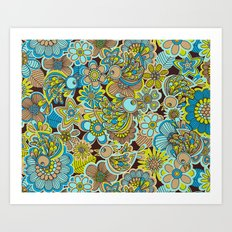 welcome birds to...(brown).  Art Print