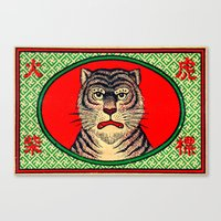 Tiger - Matchbox Canvas Print