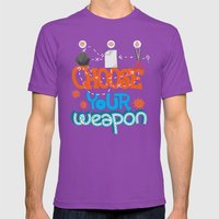 Choose Your Weapon Mens Fitted Tee Ultraviolet SMALL