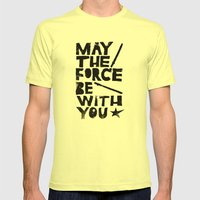 May The Force Be With Yo… Mens Fitted Tee Lemon SMALL