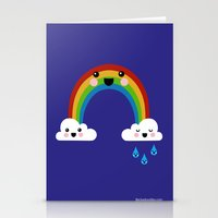 Rainbow Cuteness Stationery Cards