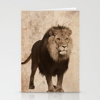 lion Stationery Cards featuring Lion by haroulita