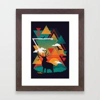 New Ridges Framed Art Print