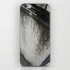 wisdom in stone. iPhone & iPod Skin