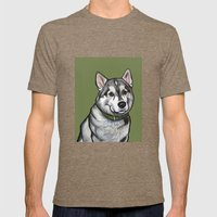 Aspen The Husky Mens Fitted Tee Tri-Coffee SMALL