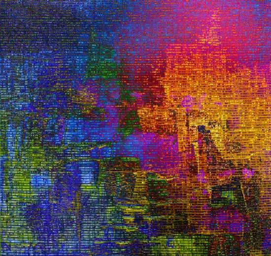 abstract tapestry Art Print