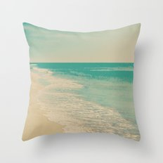 Love Comes In Sea Waves Throw Pillow