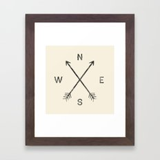 Compass (Natural) Framed Art Print
