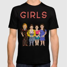 Girls Mens Fitted Tee Black SMALL