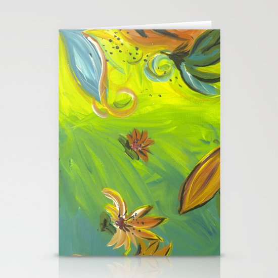 Tropical Flowers Stationery Card