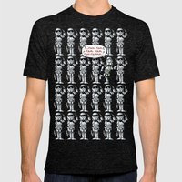 Happy Trooper Mens Fitted Tee Tri-Black SMALL
