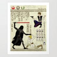 Art Print featuring Hero-glyphics: The Force by Josh Ln