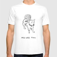 Peg Leg Paul Mens Fitted Tee White SMALL