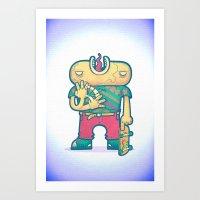brain free Art Print